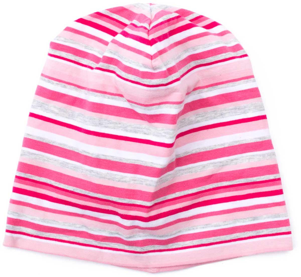 Шапка детская178036Шапка для девочки PlayToday выполненная из хлопка и эластана подойдет вашему ребенку для прогулок в прохладную погоду. Модель без завязок, плотно прилегает к голове, комфортна при носке. Уважаемые клиенты! Размер, доступный для заказа, является обхватом головы.