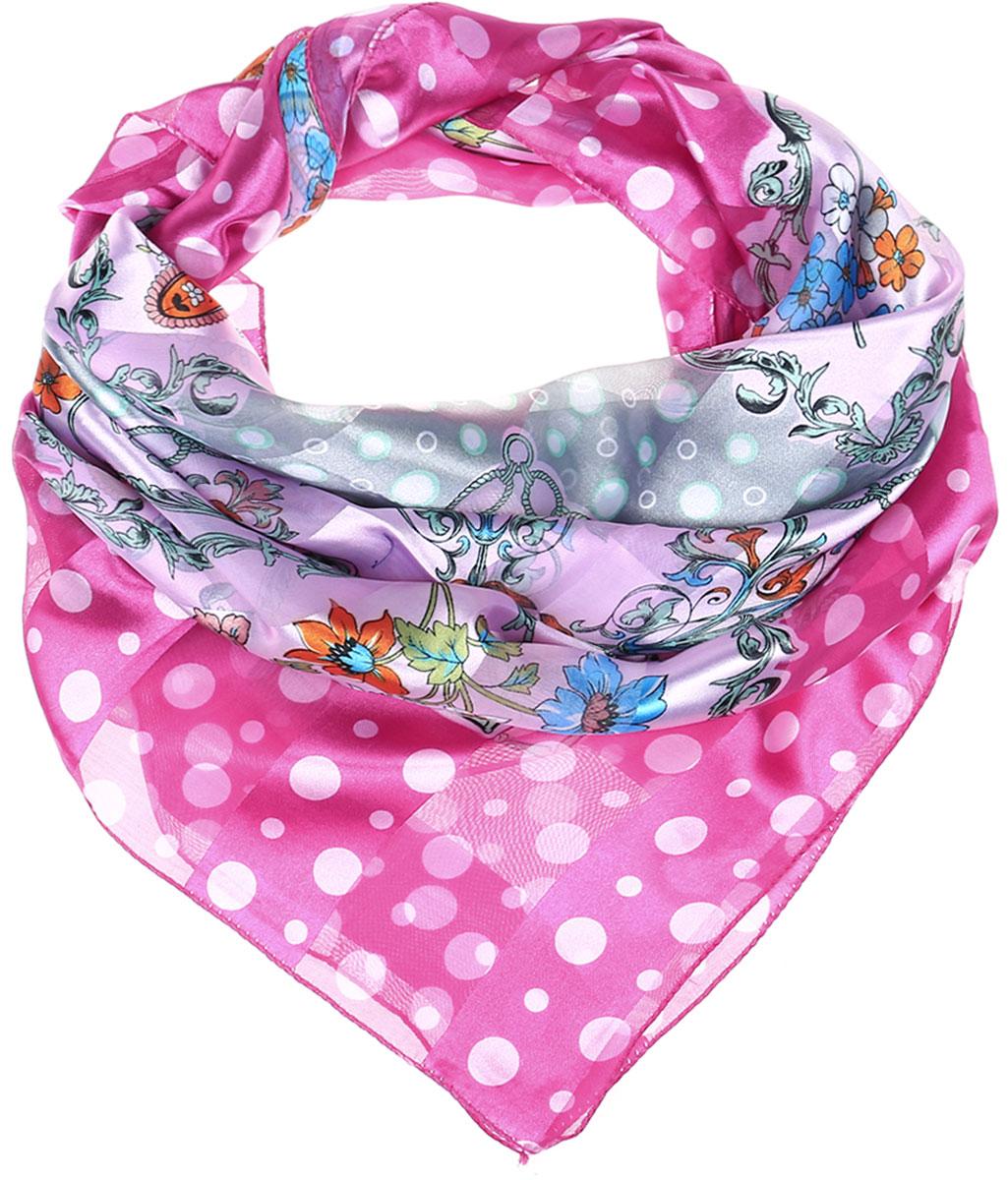 ПлатокRo0118-13-3Стильный женский платок Vittorio Richi изготовлен из высококачественного полиэстера с добавлением шелка. Платок оформлен эффектом деворе полоса и оригинальным цветочным принтом. Отделка краев - оверлок.