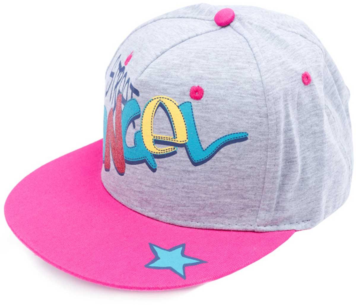 Бейсболка детская179016Модная кепка - бейсболка из натурального хлопка и полиэстера понравится вашему ребенку. Модель с эффектной аппликацией.