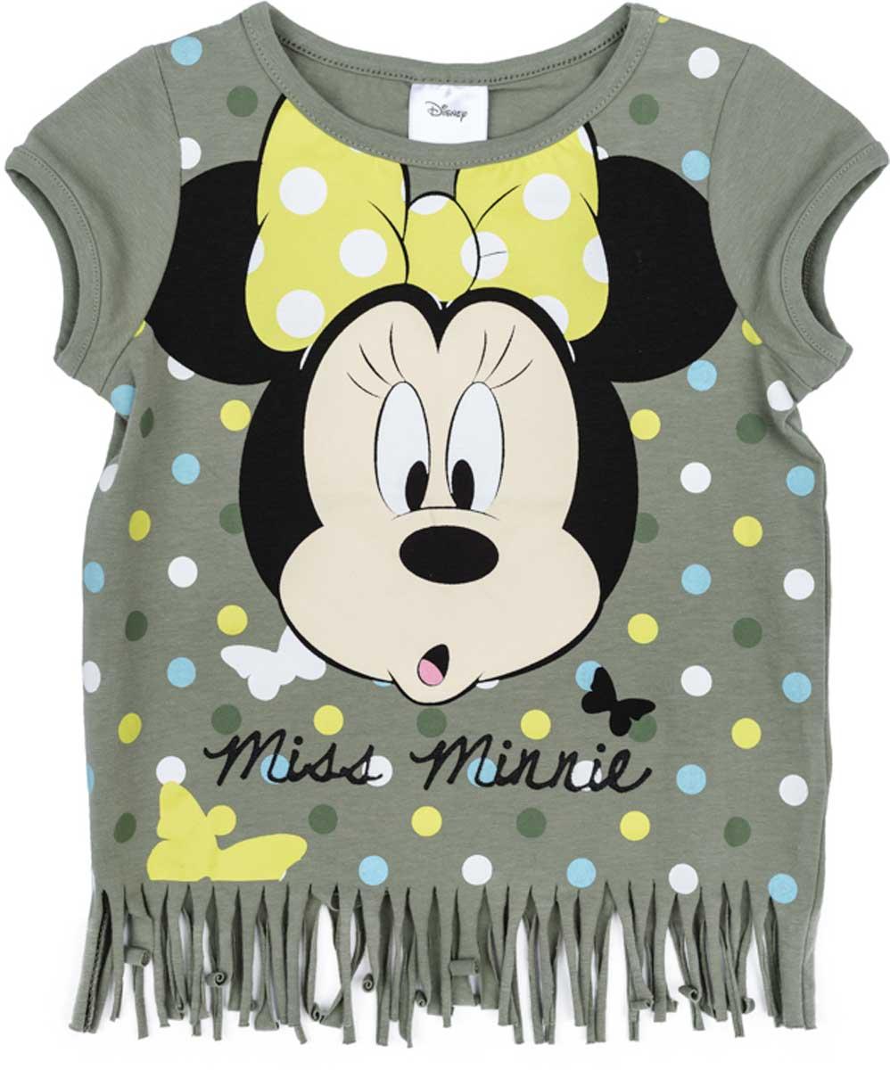 Футболка672106Футболка свободного классического кроя PlayToday прекрасно подойдет как для домашнего использования, так и для прогулок на свежем воздухе. Можно использовать в качестве базовой вещи повседневного гардероба Вашего ребенка. Яркий стильный лицензированный принт Disney и оригинальная бахрома по низу футболки являются достойным украшением данного изделия.