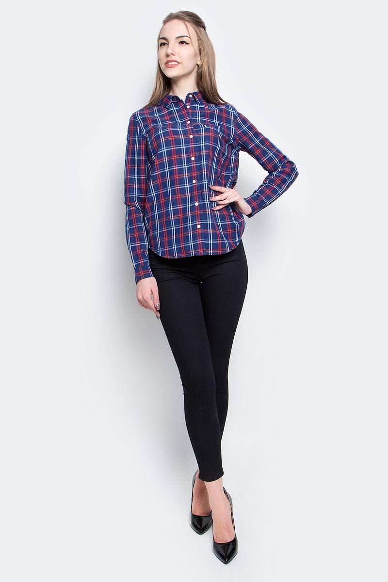 Рубашка2354800350Женская рубашка Levis® выполнена из хлопка с добавлением льна. Рубашка с длинными рукавами и отложным воротником застегивается на пуговицы спереди. Манжеты рукавов также застегиваются на пуговицы. Рубашка оформлена принтом в клетку. На груди расположен накладной карман.