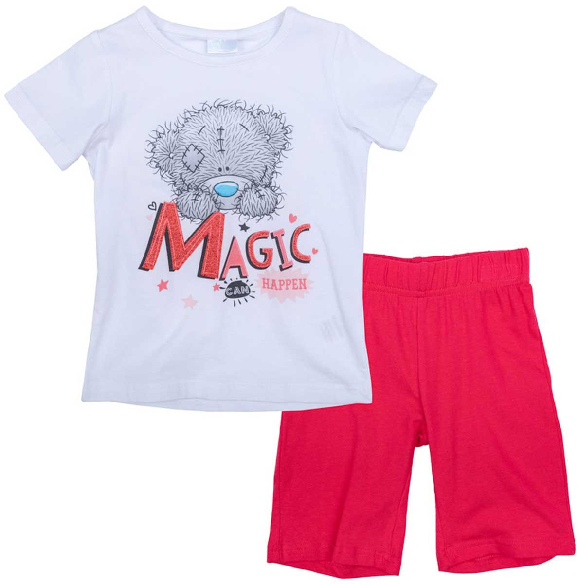 Комплект одежды676008Комплект из майки и шорт прекрасно подойдет для домашнего использования. Может быть и домашней одеждой, и уютной пижамой. Мягкий, приятный к телу, материал не сковывает движений. Яркий стильный принт Disney является достойным украшением данного изделия.Преимущества:Свободный классический крой не сковывает движения ребенкаМожет быть удобной домашней одеждой и уютной пижамой.Яркий стильный принт