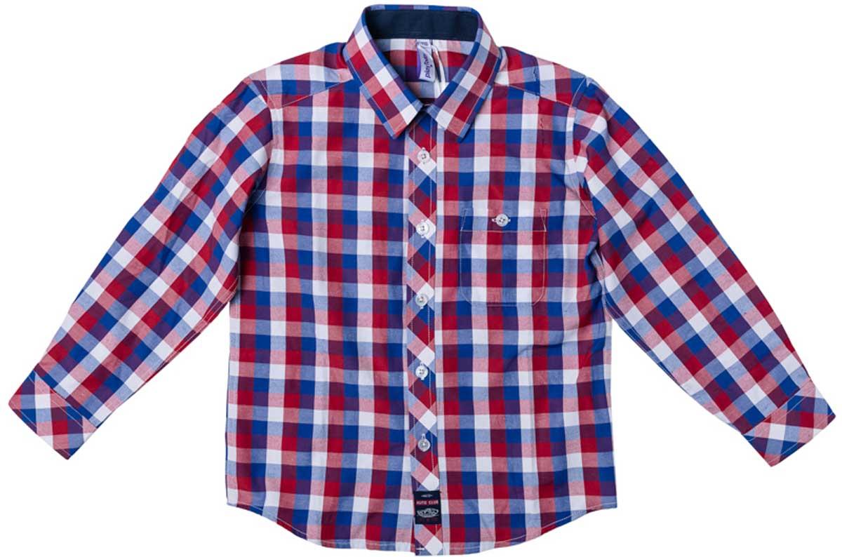 Рубашка171008Рубашка для мальчика PlayToday в стиле кантри. Практична и очень удобна для повседневной носки. Ткань мягкая и приятная на ощупь, не раздражает нежную детскую кожу. Стиль отвечает всем последним тенденциям детской моды. Рубашка с отложным воротничком и накладным карманом на пуговице. Даже в самой активной игре ваш ребенок будет всегда иметь аккуратный вид.