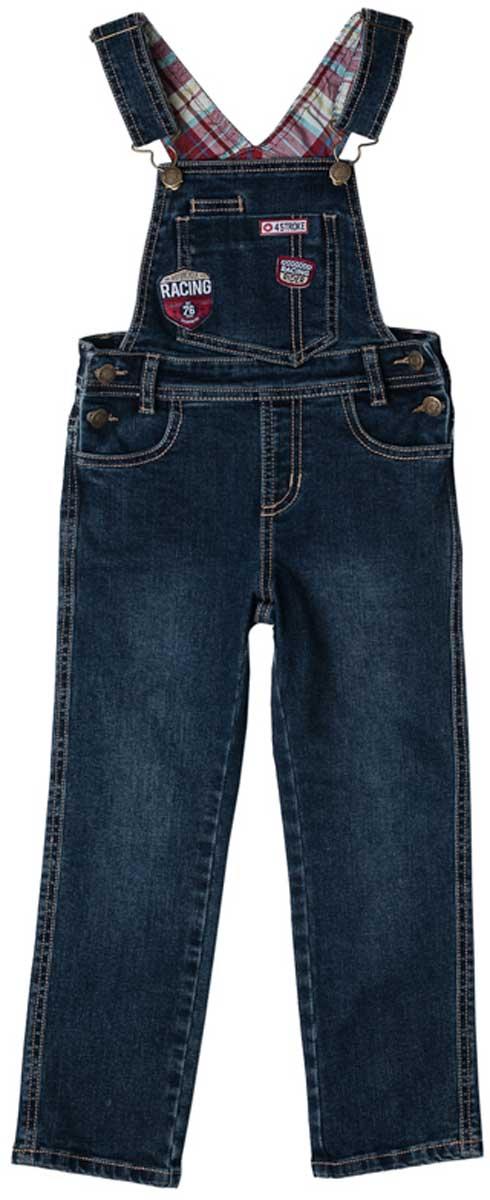 Полукомбинезон171012Полукомбинезон из джинсовой ткани с ярким принтом будет незаменимым в любом гардеробе. Хорошо сочетается с рубашками и водолазками. Пуговицы - болты являются удачным стильным и практичным дополнением. Мягкая ткань приятна к телу. Не сковывает движения ребенка.