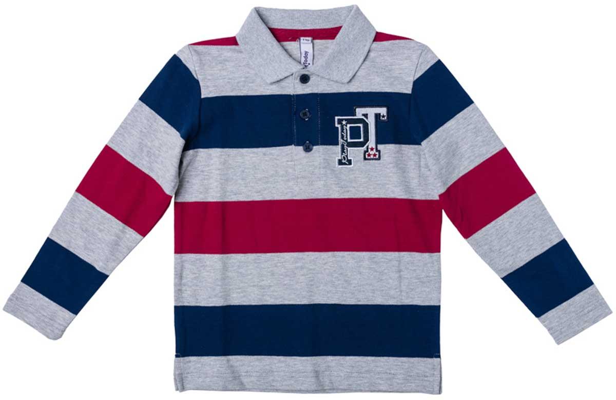 171016Удобная практичная футболка - поло с длинным рукавом и отложным воротником прекрасно дополнит гардероб Вашего ребенка. Материал изделия изготовлен по принципу yarn dyed - в процессе производства в полотне используются разного цвета нити. Тем самым изделие, при рекомендуемом уходе, не линяет и надолго остается в прежнем виде, это определенный знак качества. Мягкая и приятная на ощупь ткань не сковывет движения ребенка. Изделие украшает яркая аппликация Преимущества: Принцип производства YARN DYED Мягкая и приятная на ощупь ткань не сковывает движения ребенка Изделие украшено яркой аппликацией