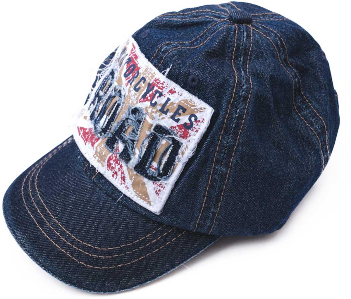 Бейсболка детская171034Модная кепка - бейсболка из натуральной джинсы, как у взрослых, понравится вашему ребенку. Модель снабжена эффектной аппликацией.