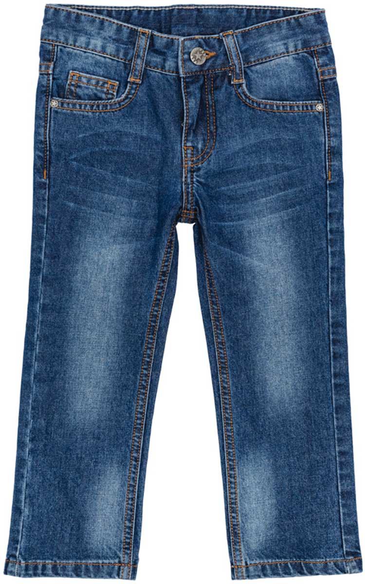 Джинсы171057Брюки джинсы из натуральной ткани с эффектом потертости прекрасно подойдут Вашему ребенку для отдыха и прогулок. Модель снабжена шлевками для ремня. Мягкая ткань не сковывает движений ребенка. Могут быть хорошей базовой вещью в детском гардеробе Преимущества: Натуральная ткань не сковывает движений ребенка Модель снабжена шлевками для ремня