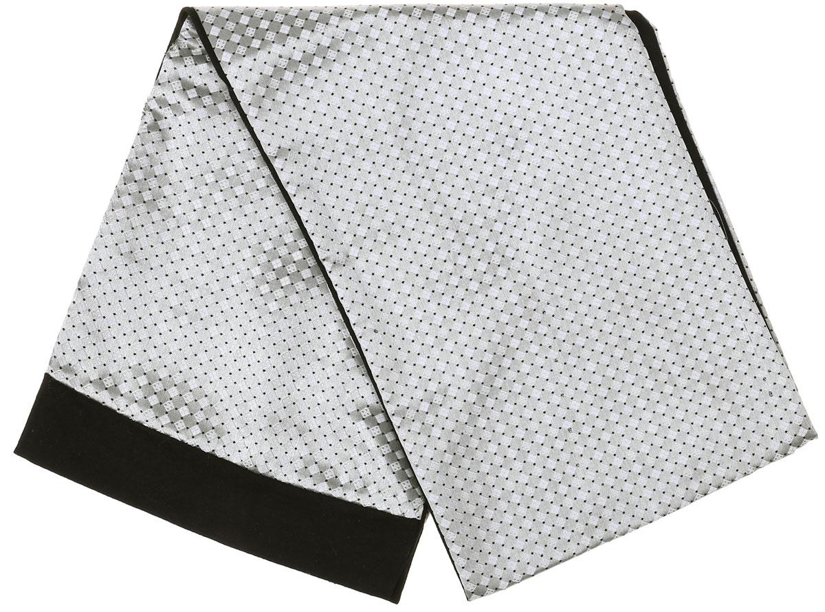 ШарфRo02G100-3100-4Стильный шарф Vittorio Richi изготовлен из полиэстера и шелка. Шарф оформлен мелким рисунком. Края и внутренняя сторона выполнены из мягкой однотонной ткани.