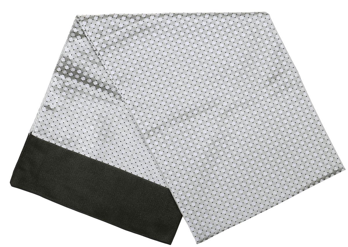 ШарфRo02G138-3100-4Стильный шарф Vittorio Richi изготовлен из полиэстера и шелка. Двусторонний текстильный шарф оформлен мелким рисунком. Края выполнены из однотонной ткани.