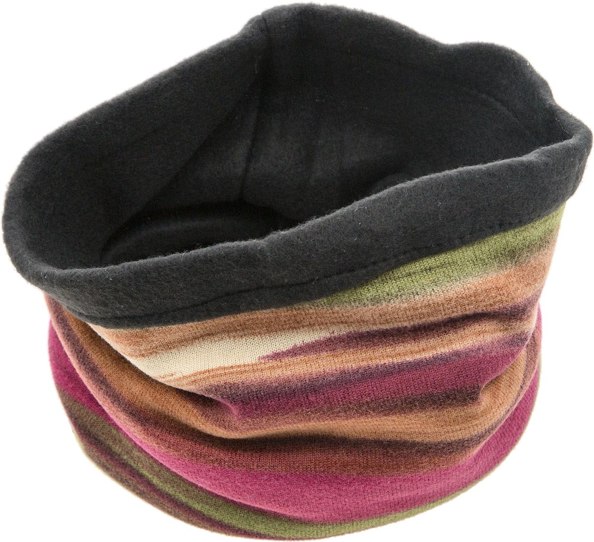 ШарфW - 25Мультишарфы можно встретить под разными названиями: мультишарф, мультибандана, платок трансформер, Baff, но вне зависимости от того, как Вы назовете этот аксессуар, его уникальные возможности останутся неизменными. Вы с легкостью и удобством можете одеть этот мультишарф на голову и шею 12 различными способами. В сильные морозы, пронизывающий ветер или пыльную бурю - с мультишарфом Вы будете готовы к любым капризам природы. Авторская работа.