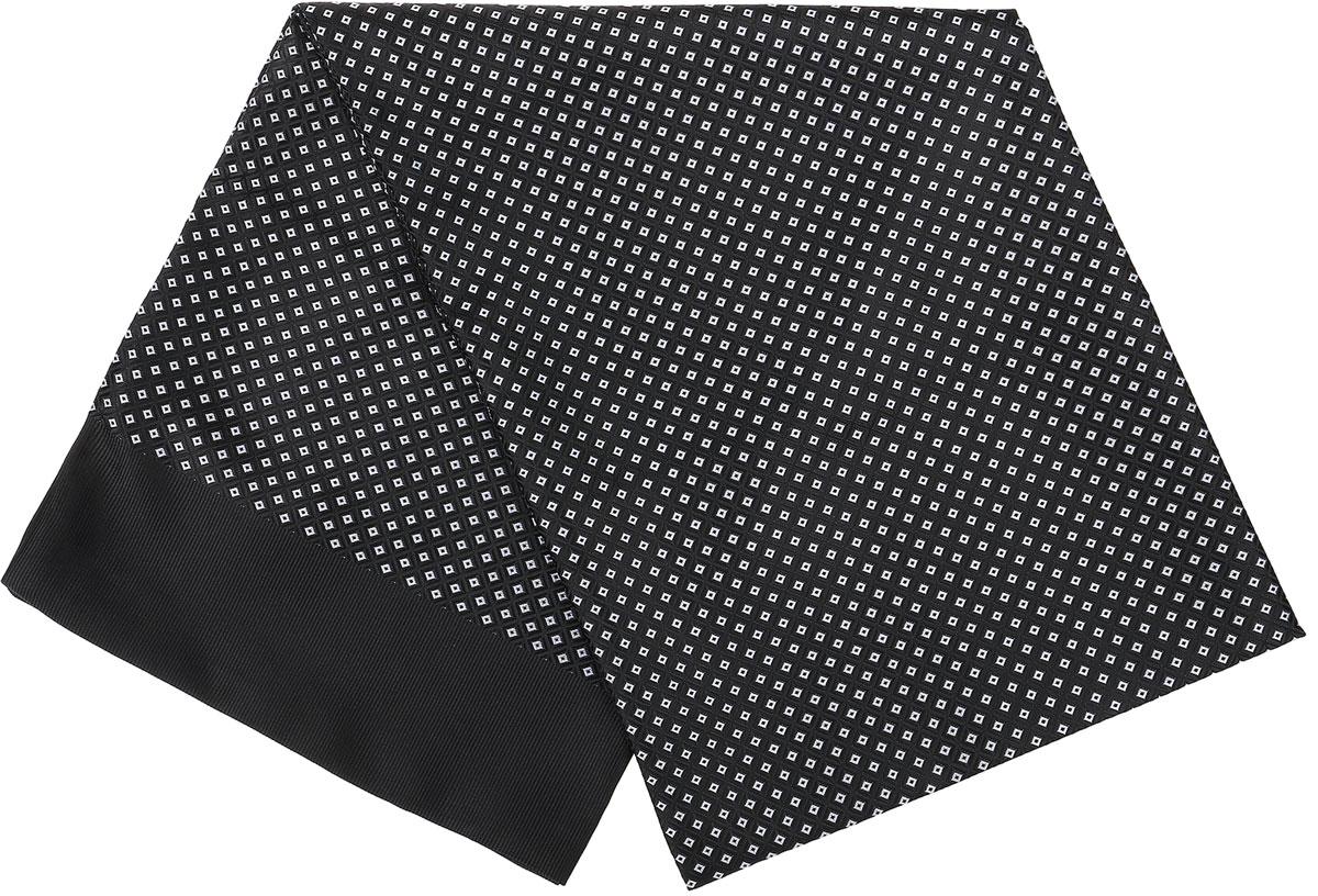 Ro02G138-3029-8Стильный шарф Vittorio Richi изготовлен из полиэстера и шелка. Двусторонний текстильный шарф оформлен мелким рисунком. Края выполнены из однотонной ткани.