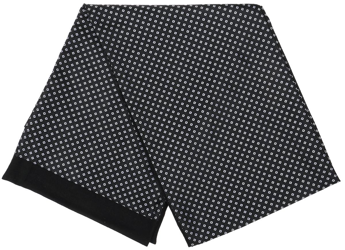 ШарфRo02G100-3029-8Стильный шарф Vittorio Richi изготовлен из полиэстера и шелка. Шарф оформлен мелким рисунком. Края и внутренняя сторона выполнены из мягкой однотонной ткани.