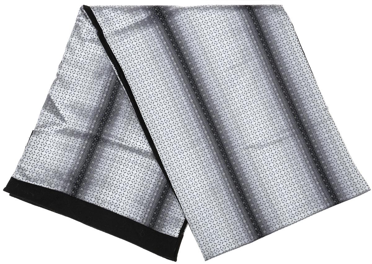 ШарфRo02G100-3010-1Стильный шарф Vittorio Richi изготовлен из полиэстера и шелка. Шарф оформлен мелким рисунком. Края и внутренняя сторона выполнены из мягкой однотонной ткани.