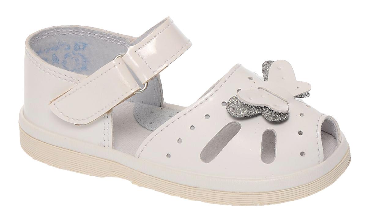 Сандалии1061Сандалии для девочки Римал выполнены из качественной искусственной кожи. Ремешок с липучкой обеспечит оптимальную посадку модели на ноге. Кожаная стелька с супинатором придаст максимальный комфорт при движении. Носки сандалий оформлены декоративным элементом в виде бабочки.