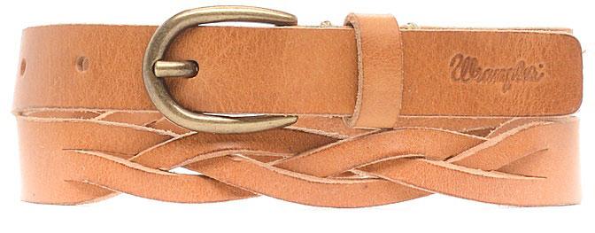 РеменьW0A74U181Стильный ремень Wrangler выполнен из натуральной кожи и оформлен плетением. Пряжка, с помощью которой регулируется длина ремня, выполнена из качественного металла.