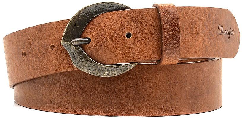 РеменьW0A81U181Стильный широкий ремень Wrangler выполнен из натуральной кожи. Пряжка, с помощью которой регулируется длина ремня, выполнена из качественного металла.