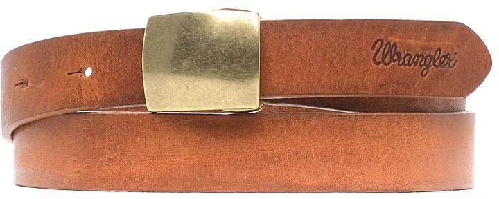РеменьW0A96U181Стильный широкий ремень Wrangler выполнен из натуральной кожи. Прямоугольная пряжка, с помощью которой регулируется длина ремня, выполнена из металла.