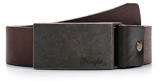 РеменьW0272US85Стильный широкий ремень Wrangler выполнен из натуральной кожи. Прямоугольная пряжка, с помощью которой регулируется длина ремня, выполнена из металла и оформлена гравировкой с названием бренда.