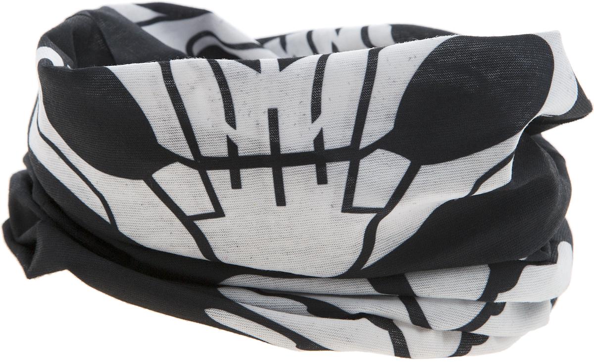 17-45Мультишарфы можно встретить под разными названиями: мультишарф, мультибандана, платок трансформер, Baff, но вне зависимости от того, как Вы назовете этот аксессуар, его уникальные возможности останутся неизменными. Вы с легкостью и удобством можете одеть этот мультишарф на голову и шею 12 различными способами. В сильные морозы, пронизывающий ветер или пыльную бурю - с мультишарфом Вы будете готовы к любым капризам природы. Авторская работа.