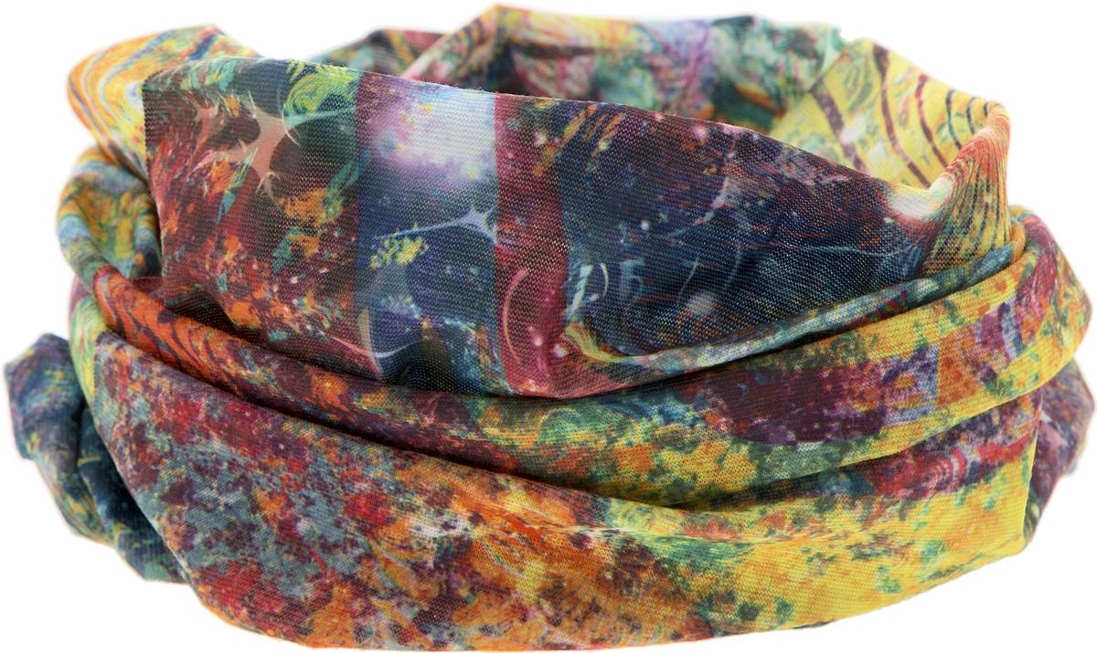 Шарф17-44Мультишарфы можно встретить под разными названиями: мультишарф, мультибандана, платок трансформер, Baff, но вне зависимости от того, как Вы назовете этот аксессуар, его уникальные возможности останутся неизменными. Вы с легкостью и удобством можете одеть этот мультишарф на голову и шею 12 различными способами. В сильные морозы, пронизывающий ветер или пыльную бурю - с мультишарфом Вы будете готовы к любым капризам природы. Авторская работа.