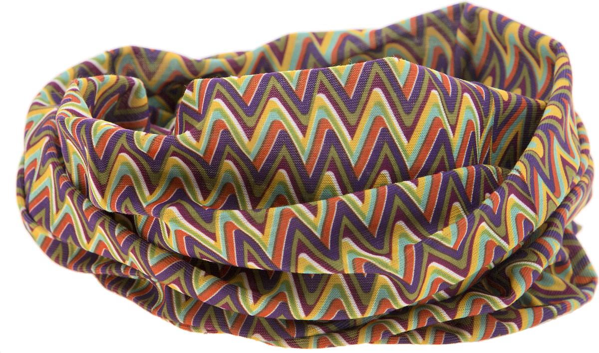 15-27Мультишарфы можно встретить под разными названиями: мультишарф, мультибандана, платок трансформер, Baff, но вне зависимости от того, как Вы назовете этот аксессуар, его уникальные возможности останутся неизменными. Вы с легкостью и удобством можете одеть этот мультишарф на голову и шею 12 различными способами. В сильные морозы, пронизывающий ветер или пыльную бурю - с мультишарфом Вы будете готовы к любым капризам природы. Авторская работа.