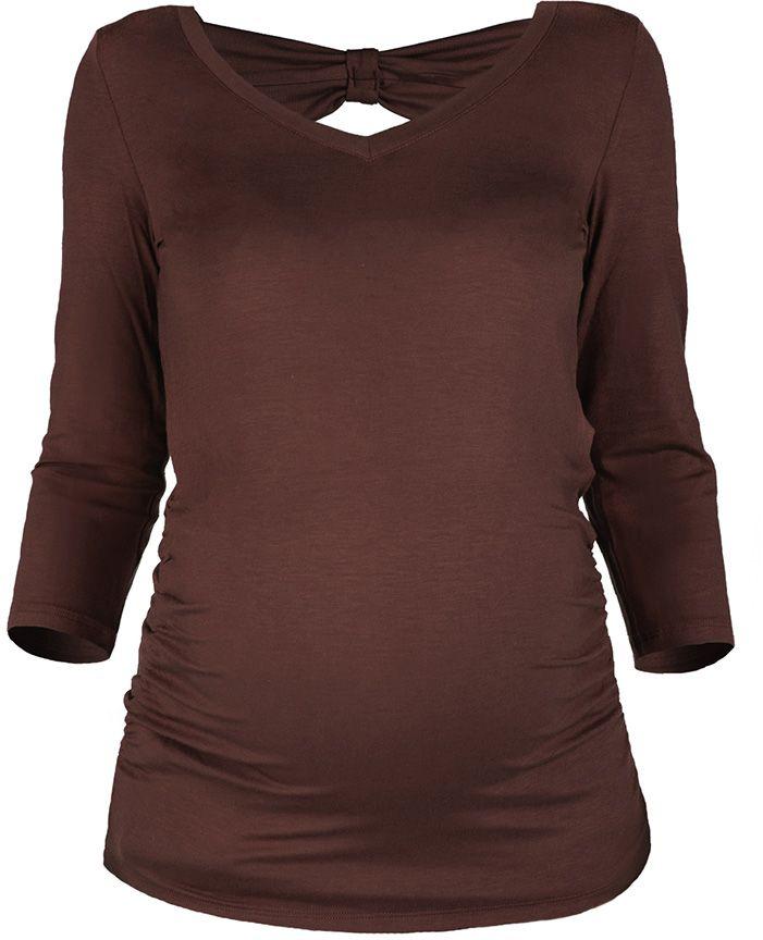 Блузка371411618Блузка для беременных Mammy Size с V-образным вырезом горловины и рукавами 3/4.
