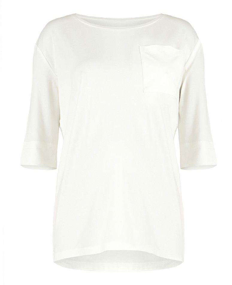 Блузка0709292170Блузка для беременных Mammy Size выполнена из вискозы и лайкры. Модель с круглым вырезом горловины и рукавами 3/4.