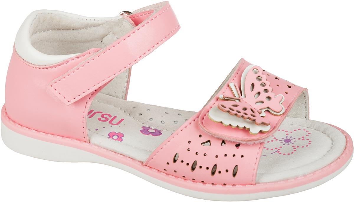 Босоножки101623Босоножки для девочки Mursu выполнены из качественной искусственной кожи и оформлены декоративными бабочками. Ремешок с липучкой обеспечит оптимальную посадку модели на ноге. Носочная часть дополнена застежкой-липучкой. Кожаная стелька придаст максимальный комфорт при движении.