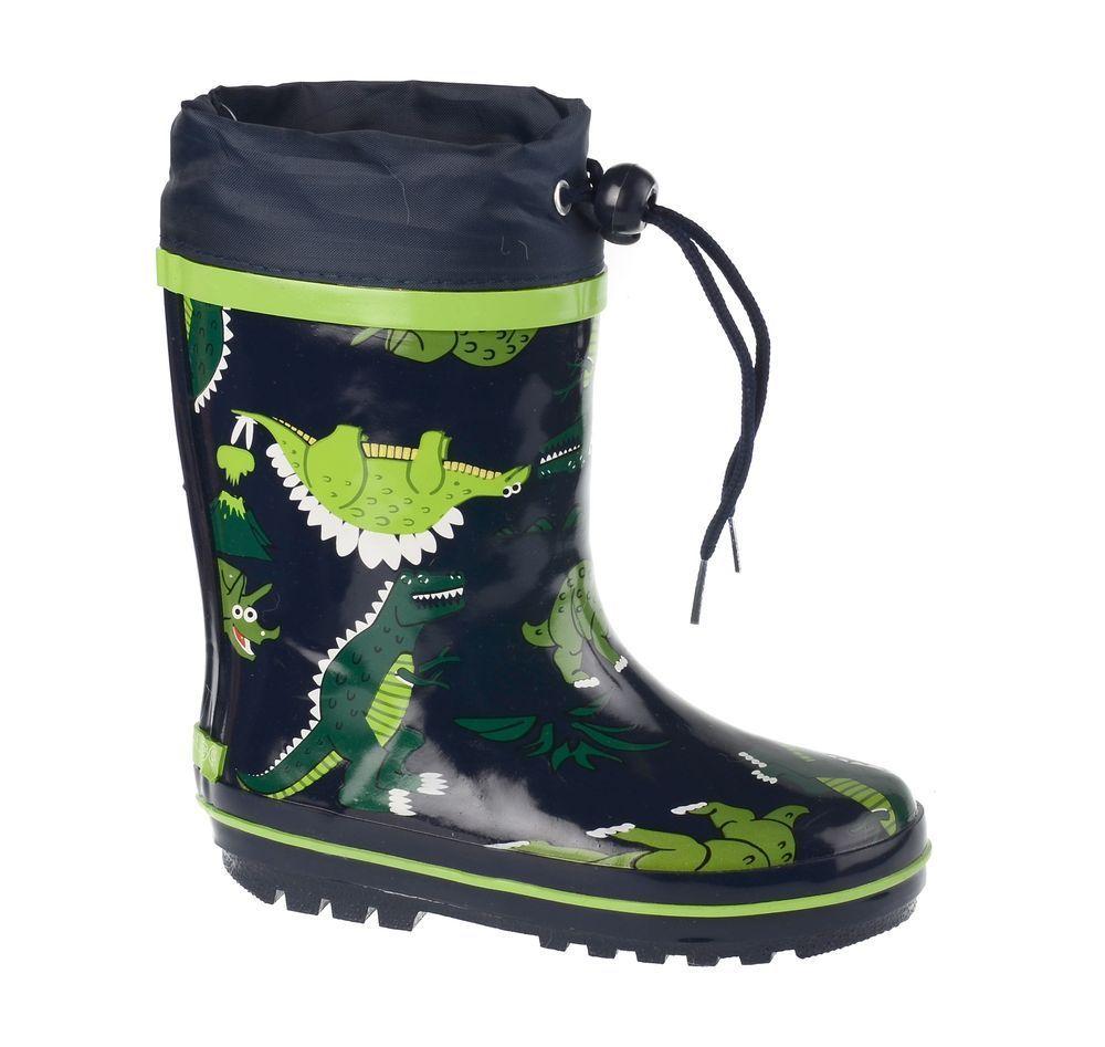 Резиновые сапоги71-HL-0014Утепленные резиновые сапоги от Flamingo - идеальная обувь в холодную дождливую погоду для вашего ребенка. Сапоги, выполненные из качественной резины, оформлены принтом с изображением динозавров. Подкладка и стелька из шерсти не дадут ногам вашего ребенка замерзнуть. Текстильный верх голенища регулируется в объеме за счет шнурка с бегунком. Подошва дополнена протектором.