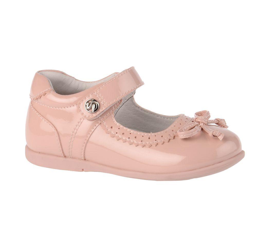 Туфли71T-XY-0112Модные туфли для девочки от Flamingo выполнены из искусственной лакированной кожи. Мыс модели украшен декоративным бантиком. Ремешок с застежкой-липучкой надежно зафиксирует модель на ноге. Внутренняя поверхность и стелька из натуральной кожи обеспечат комфорт при движении. Стелька дополнена супинатором, который предотвращает плоскостопие. Подошва дополнена рифлением.