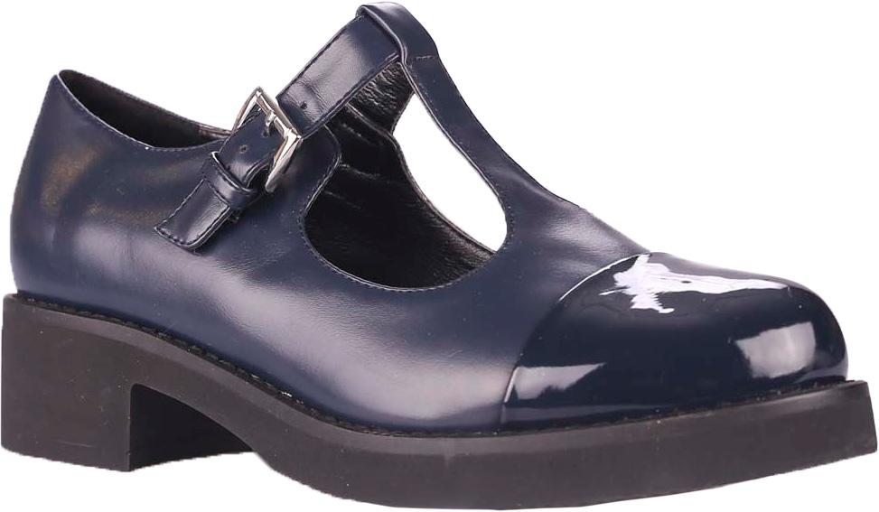 Туфли39494Комфортные и практичные туфли Vitacci - отличный вариант на каждый день. Модель выполнена из качественной искусственной кожи. Ремешок с металлической пряжкой надежно зафиксирует модель на ноге. Подошва выполнена с широким низким каблуком.