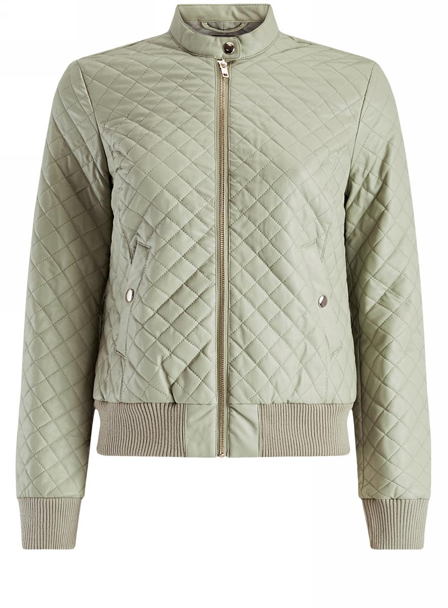 Куртка28A03001/45639/6000NКуртка стеганая из искусственной кожи