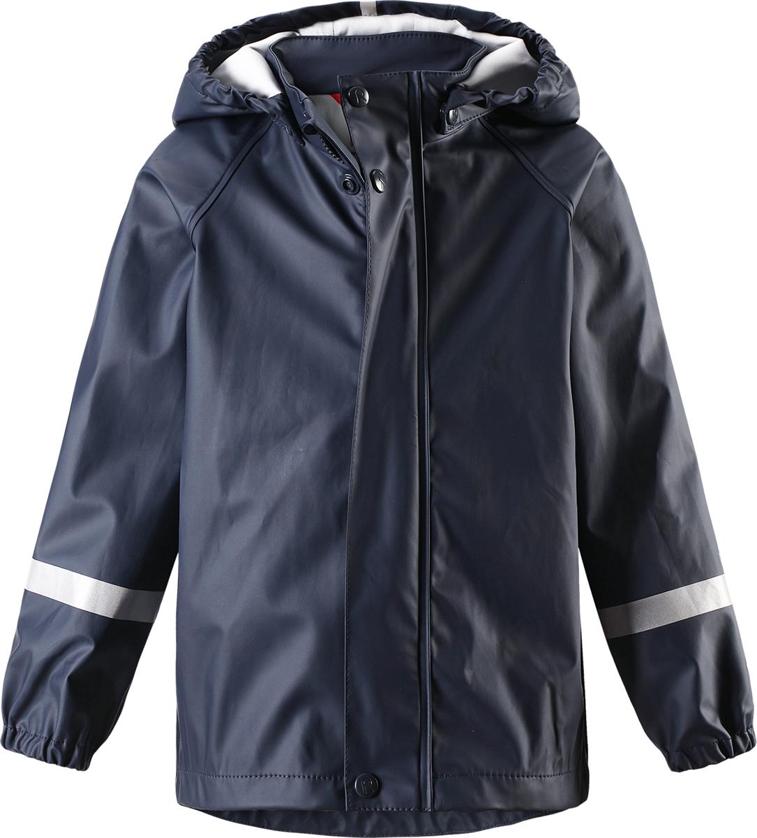 Дождевик5214916980Детская куртка-дождевик Lampi стильно смотрится и гарантирует защиту от дождя. Эластичный материал не деревенеет на морозе, поэтому этот дождевик можно носить круглый год просто добавьте в холодную погоду теплый промежуточный слой. Съемный капюшон защитит даже от ливня, при этом он безопасен во время прогулок в дождливый день. В туманный день или в темное время суток светоотражатели будут просто незаменимы. Материал сертифицирован по стандарту Oeko-Tex и не содержит ПВХ.
