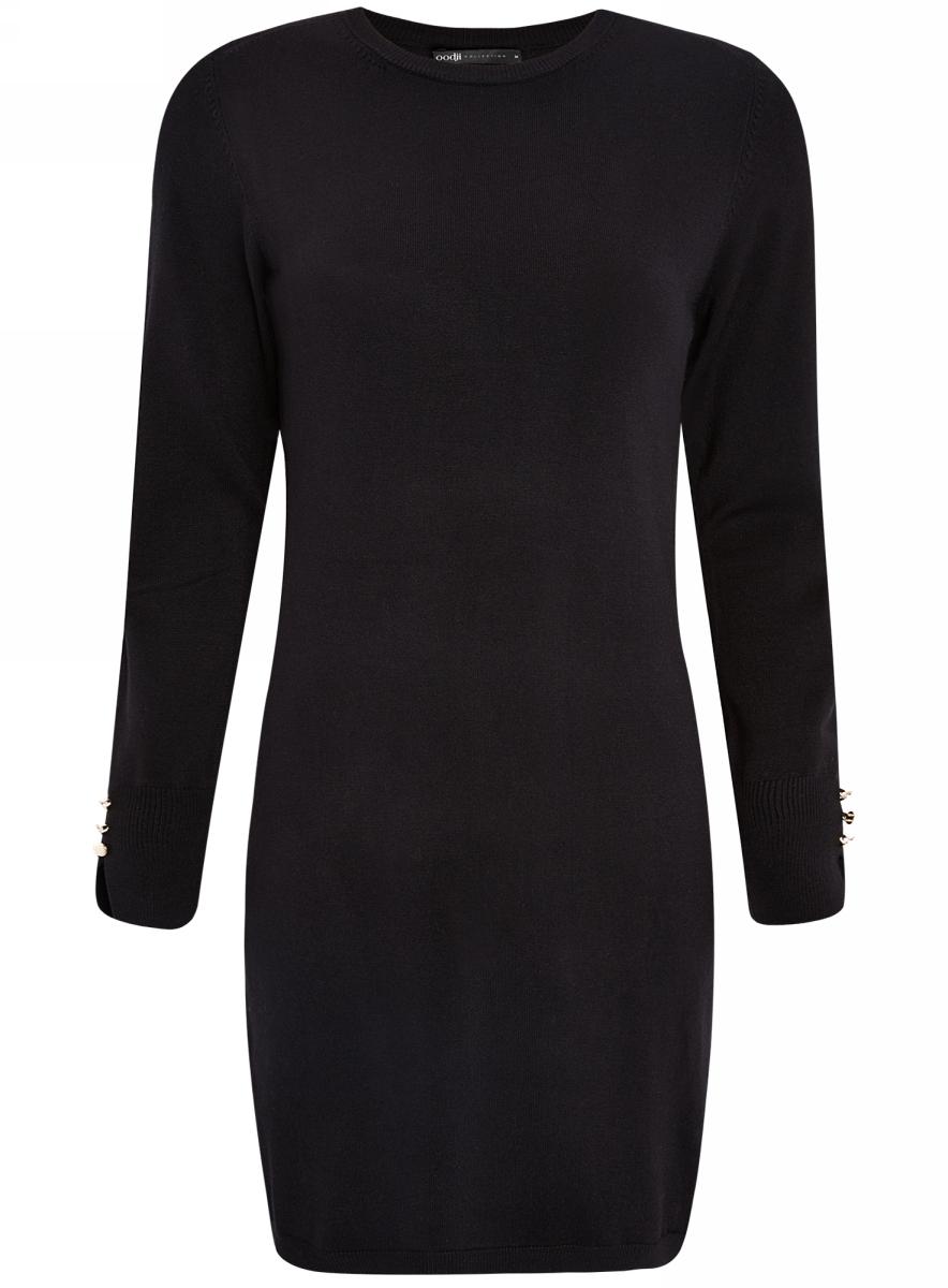 Платье73912217-1B/33506/2000MПлатье базовое из вискозы с пуговицами на рукаве