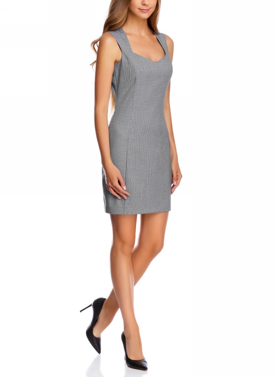 Платье11902160-1/45735/1029GПлатье базовое из плотной ткани с сердцевидным вырезом