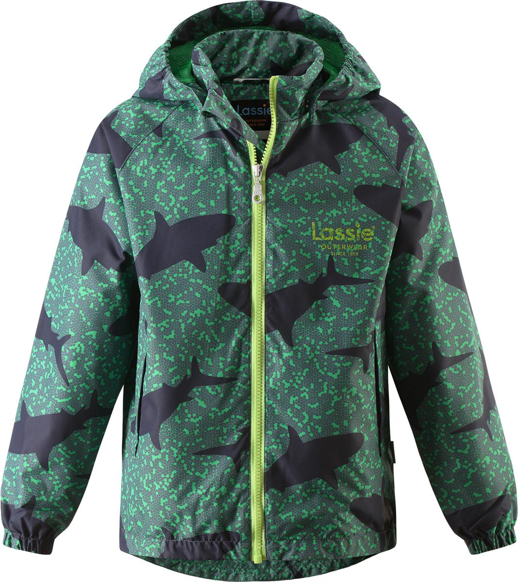 Куртка721705R669Куртка для мальчика Lassie с легкой степенью утепления изготовлена из ветронепроницаемого, водо- и грязеотталкивающего материала. Куртка прямого кроя с воротником-стойкой и съемным капюшоном застегивается на молнию с защитой подбородка и дополнительно имеет внутреннюю ветрозащитную планку. Капюшон пристегивается к куртке при помощи кнопок. Капюшон по краям и манжеты рукавов присборены на резинки. Спереди расположены два удобных прорезных кармана липучках. Теплая, комфортная и практичная куртка идеально подойдет для прогулок и игр на свежем воздухе! Температурный режим от 0°С до -10°С.