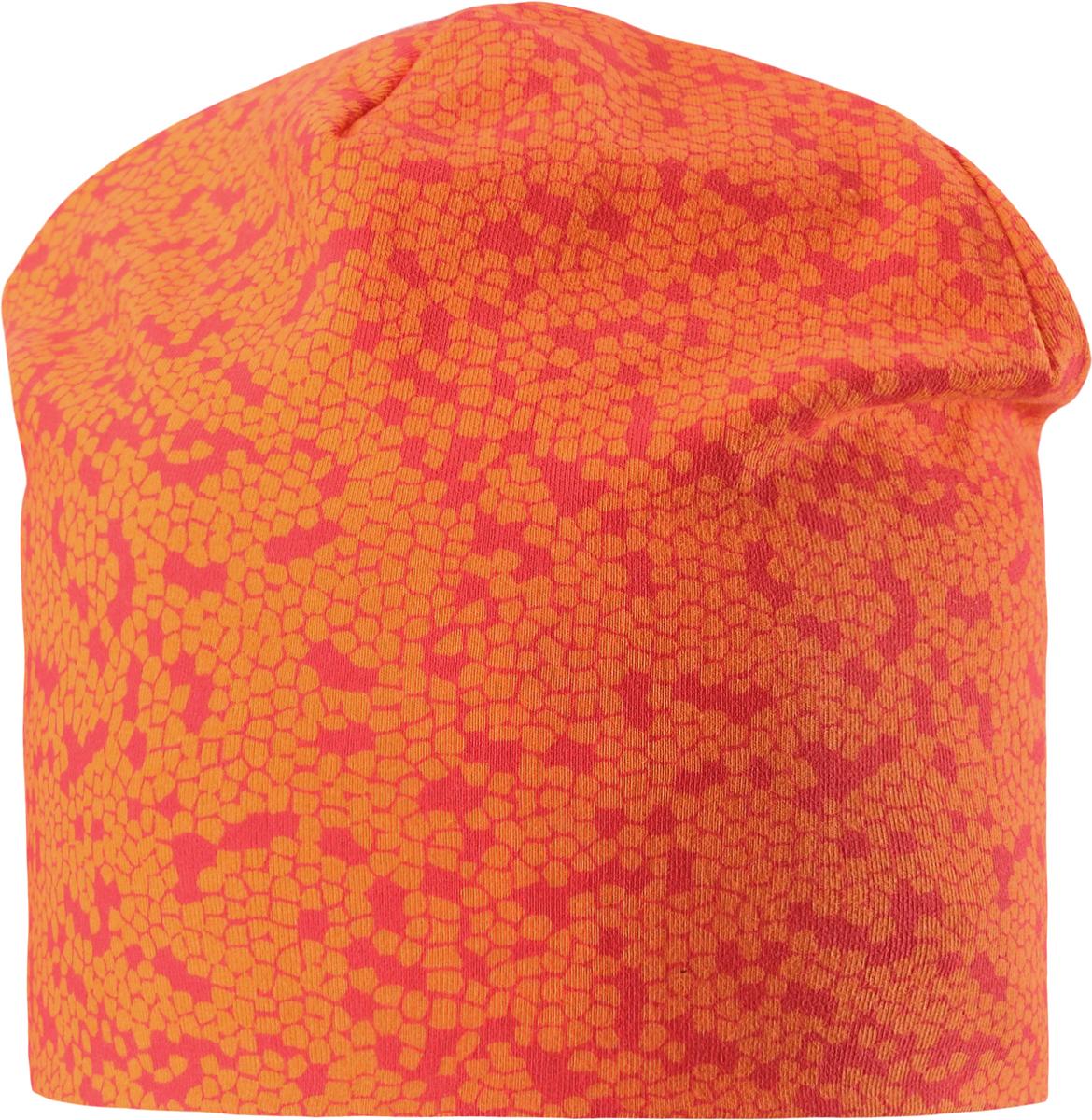 Шапка детская7287002730Удобная трикотажная шапка из хлопка подойдет на все случаи жизни. Полная трикотажная подкладка из смеси хлопка гарантирует тепло, а ветронепроницаемые вставки для ушей защищают от холодного ветра. Декоративная эмблема и модный рисунок.