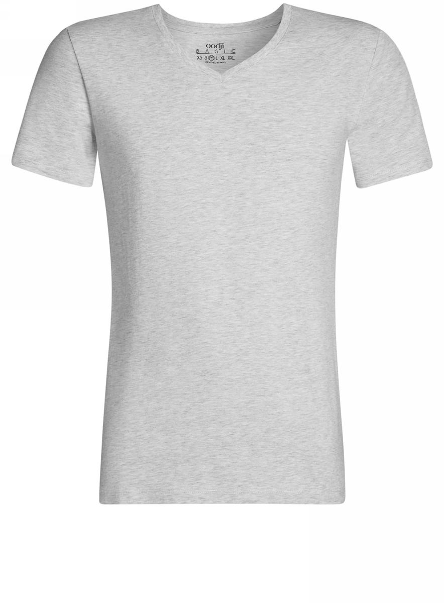 Футболка5B612002M/46536N/2000MБазовая футболка с V-образным вырезом горловины и короткими рукавами выполнена из эластичного хлопка с добавлением вискозы.