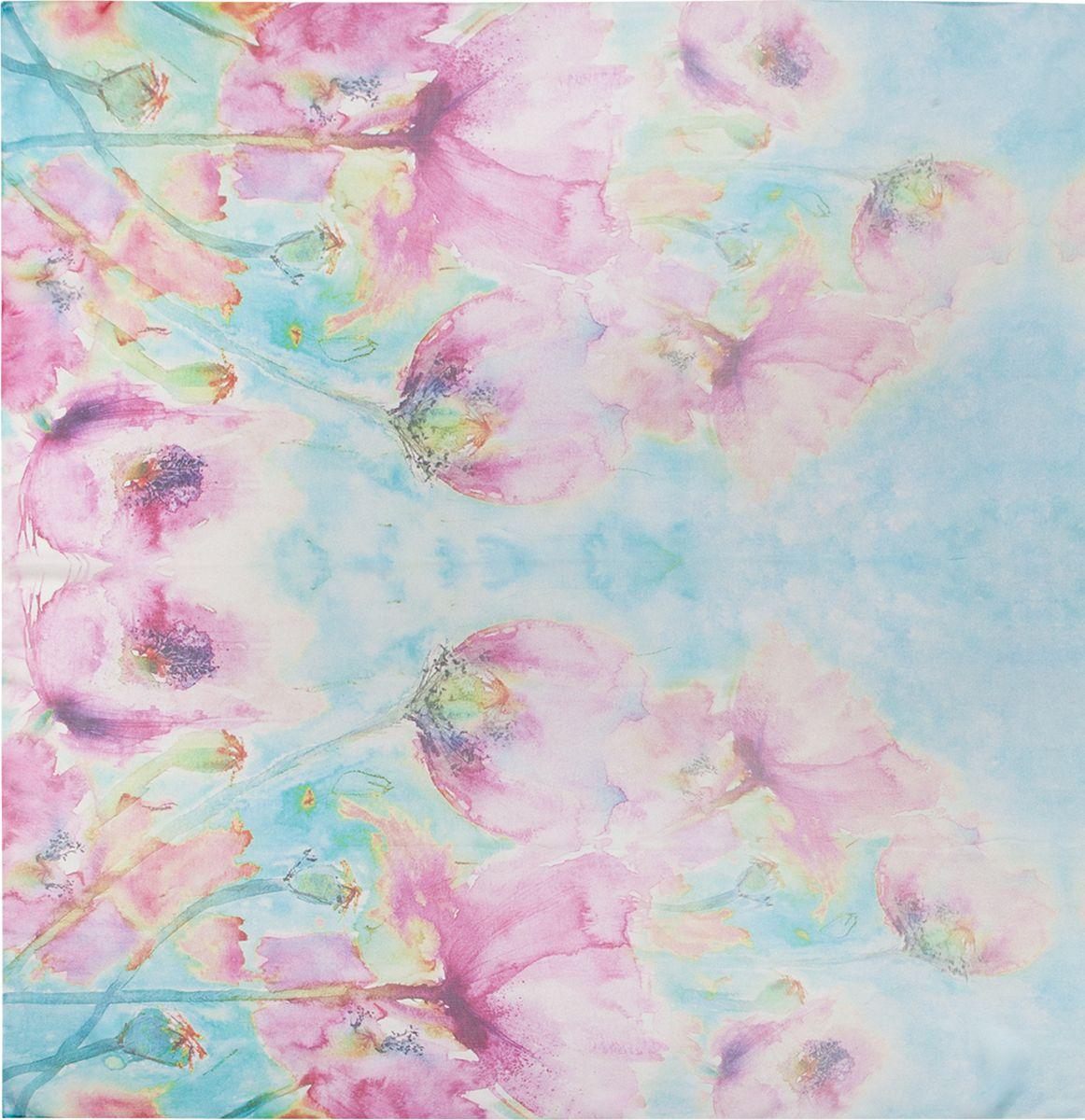 ПалантинSS02-7804Палантин Eleganzza изготовлен из шелка. Модель украшена цветочным принтом. Этот модный аксессуар гармонично дополнит ваш образ.