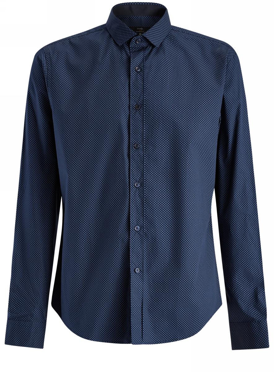 Рубашка3L110201M/44378N/7975GРубашка принтованная приталенного силуэта