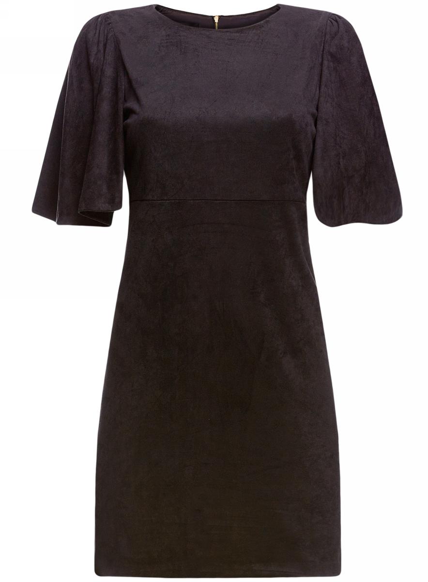 Платье18L11001/45622/2900NПлатье из искусственной замши свободного силуэта