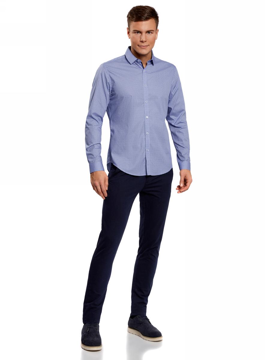 Рубашка3L110189M/34156N/7079GРубашка с длинным рукавом приталенная