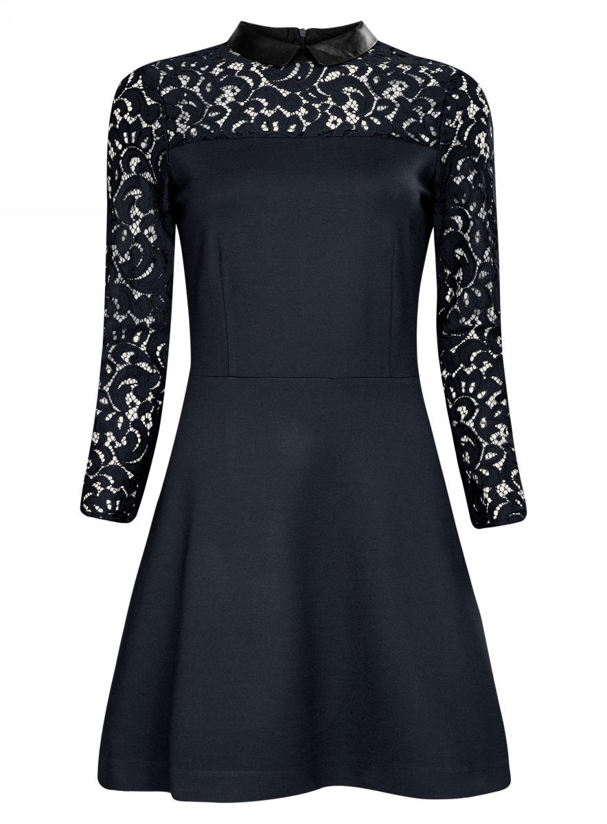 Платье14000160/45248/7900NПлатье с отделкой из кружева и воротником из искусственной кожи
