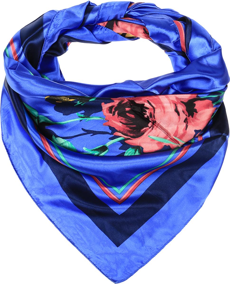 ПлатокRo01HS1602-8-3Стильный женский платок Vittorio Richi изготовлен из высококачественного полиэстера с добавлением шелка. Платок оформлен оригинальным цветочным принтом. Обработка краев - подрубка.