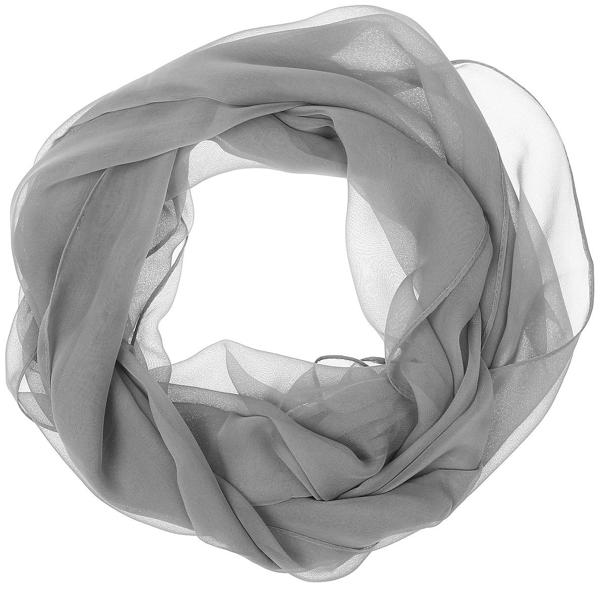 ШарфRo01C1005-3Однотонный шарф от Vittorio Richi изготовлен из шелка и полиэстера. Кромка модели обработана тонкой подгибкой.
