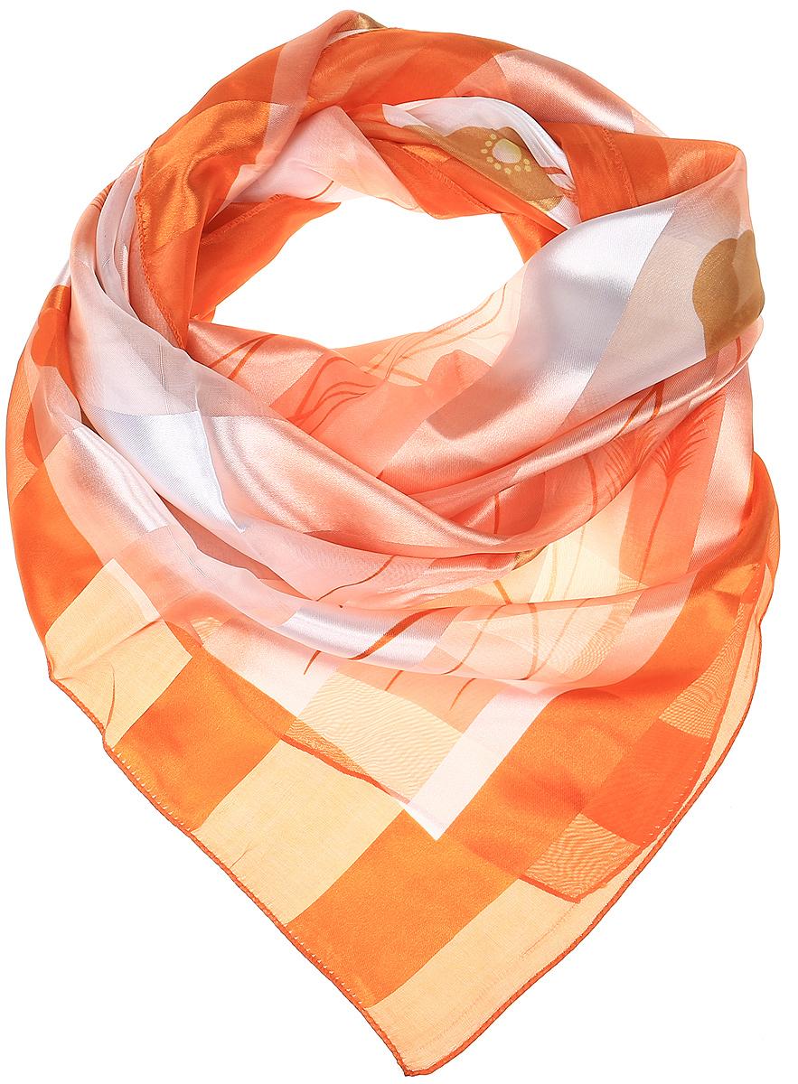 ПлатокRo0118-5-1Стильный женский платок Vittorio Richi изготовлен из высококачественного полиэстера с добавлением шелка. Платок оформлен эффектом деворе полоса и оригинальным цветочным принтом. Отделка краев - оверлок.