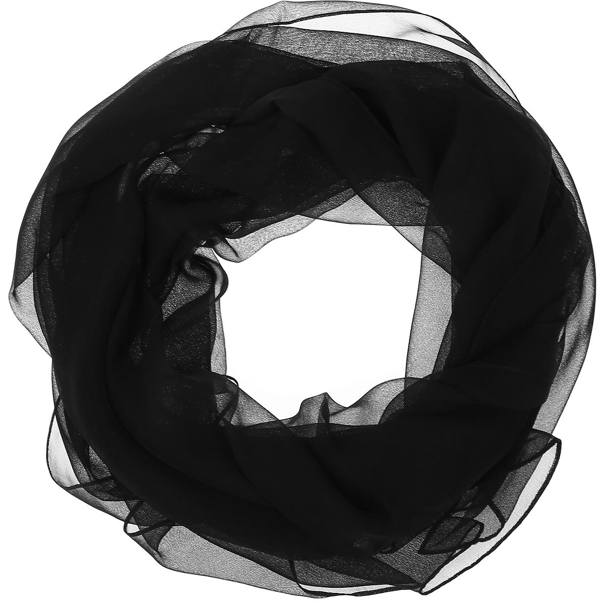 ШарфRo01C1105-1Однотонный шарф от Vittorio Richi выполнен из полиэстера с добавлением шелка. Кромка обработана подрубкой.