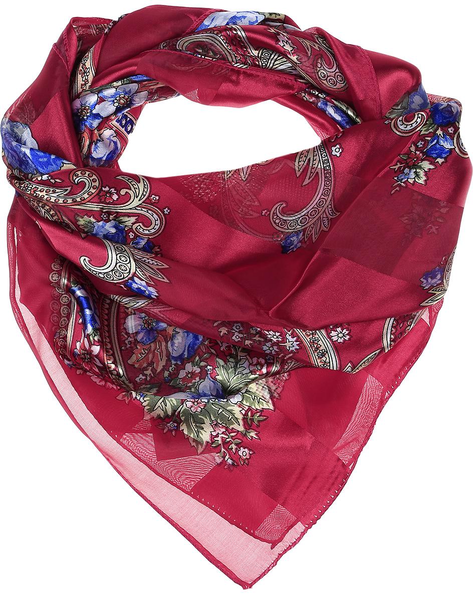 ПлатокRo0118-8-2Стильный женский платок Vittorio Richi изготовлен из высококачественного полиэстера с добавлением шелка. Платок оформлен эффектом деворе полоса и цветочным принтом. Отделка краев - оверлок.