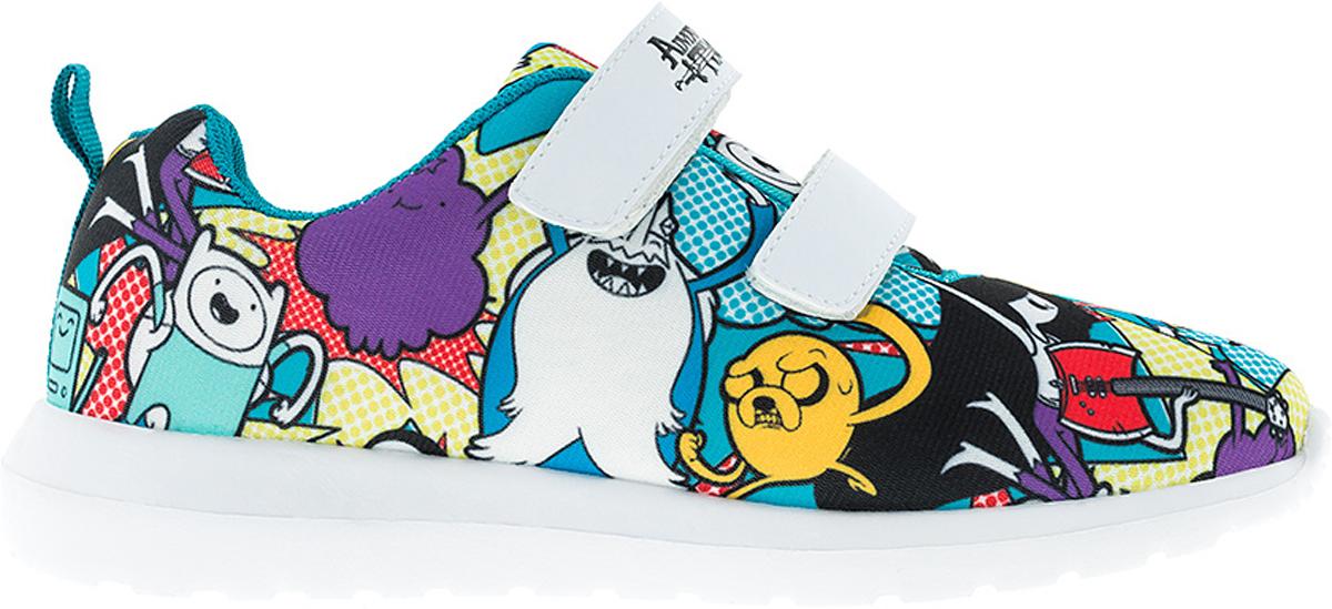 Кроссовки6771BСтильные кроссовки Adventure Time от Kakadu - отличный выбор для вашей малышки на каждый день. Верх модели выполнен из дышащего текстиля. Кроссовки оформлены принтом с изображением персонажей мультсериала Время приключений. Ремешки на застежках-липучках обеспечивают надежную фиксацию обуви на ноге. Подкладка из текстильного материала создает комфорт при носке. Съемная анатомическая стелька удобна в эксплуатации и позволяет быстро просушивать обувь. Подошва выполнена из легкого ЭВА-материала. Рифление на подошве обеспечивает отличное сцепление с любой поверхностью. Модные и комфортные кроссовки - необходимая вещь в гардеробе каждого ребенка.