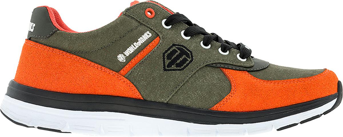 Кроссовки6719BСтильные мужские кроссовки World of Tanks от Kakadu - отличный выбор на каждый день для тех, кто ведет активный образ жизни. Верх модели выполнен из дышащего текстиля и синтетической кожи. Классическая шнуровка надежно фиксирует обувь на ноге. Подкладка из текстиля обеспечивает комфорт при носке. Съемная формованная стелька из полиэстера удобна в эксплуатации и позволяет быстро просушивать обувь. Облегченная подошва выполнена из ЭВА и термополиуретана. Рифление на подошве обеспечивает отличное сцепление с любой поверхностью. Модные и комфортные кроссовки - идеальный вариант для современного и уверенного в себе мужчины!